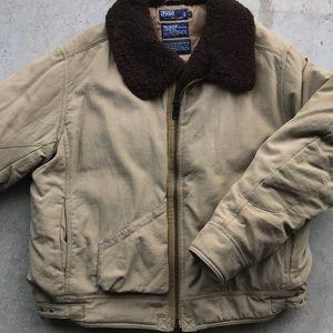 Polo Ralph Lauren shearling down bomber jacket